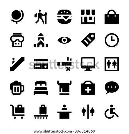 Tourism and Travel Vector Icons 5 - stock vector