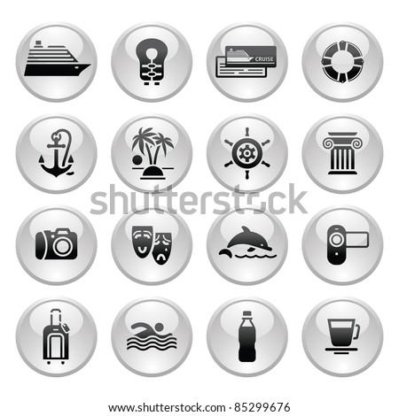 Tourism, Sport with reflection. My works (vectors) in this series: http://www.shutterstock.com/sets/30473-travel-gray.html?rid=512323   - stock vector