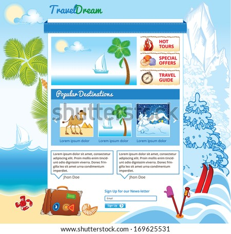 Tourism template for web site