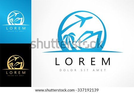 tourist logo vector - tourism  - stock vector
