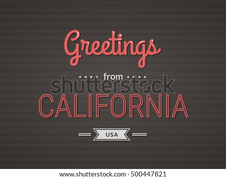 Touristic greeting postcard greetings california usa stock vector touristic greeting postcard greetings from california usa m4hsunfo