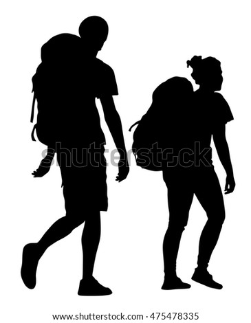 hiking silhouette stock images  royalty free images mother and daughter clipart black and white mother and daughter clipart free