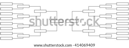 tournament quarter-finals of the championship table on sports with a selection of the finalists and the winner. vector illustration - stock vector