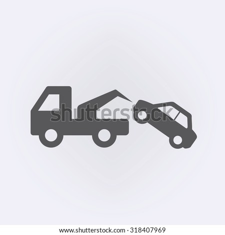 Tow Away No Parking Sign . Vector illustration - stock vector