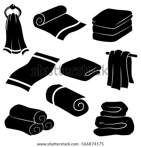 towel icon isolated on white background vector art