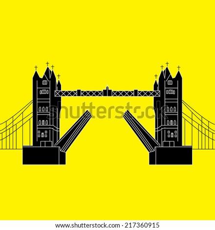 Tower Bridge, London - stock vector