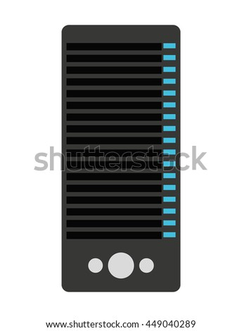 tower server computer isolated icon design, vector illustration  graphic  - stock vector