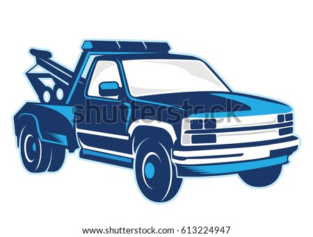 towing truck illustration stock vector royalty free 613224947