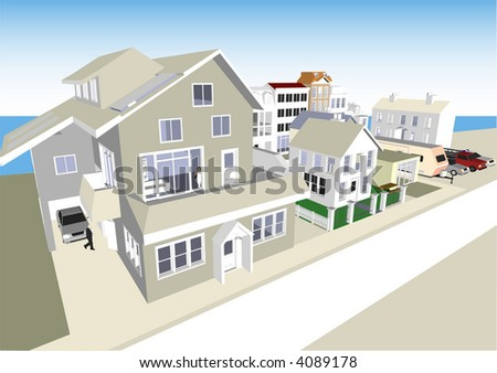 Town & Community (Vector fully resizable and editable) - stock vector