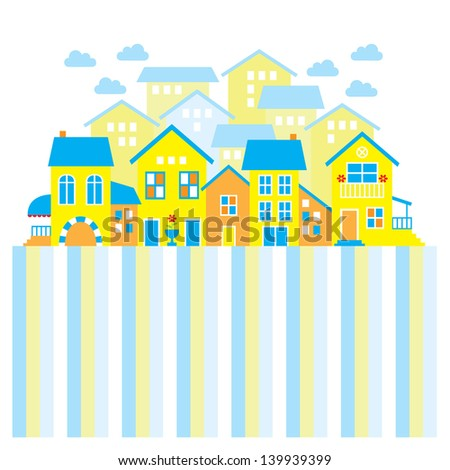 Town houses vector illustration - stock vector