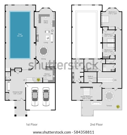 townhouse plans narrow lot townhouse stock images royalty free images amp vectors 22391