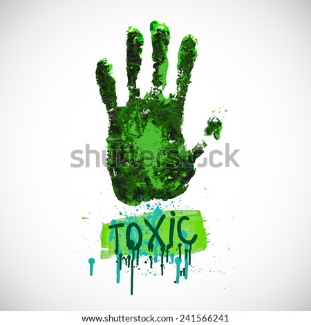 Toxic. Death hazard grunge sign. Acute toxicity. Danger caution.   - stock vector