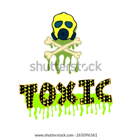 toxic, gas mask over white color background - stock vector