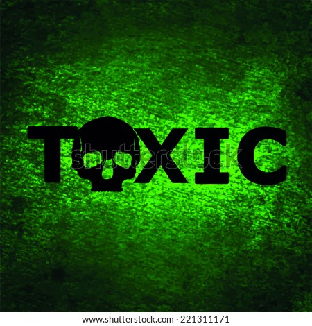 toxic vector - stock vector