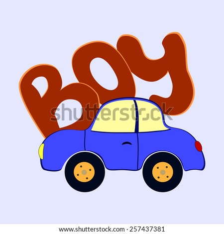 toy car - stock vector