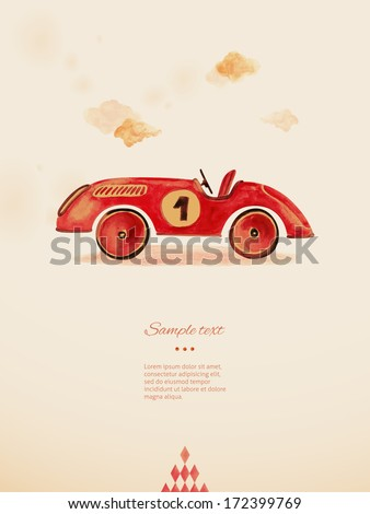 Toy car. Eps 10 - stock vector