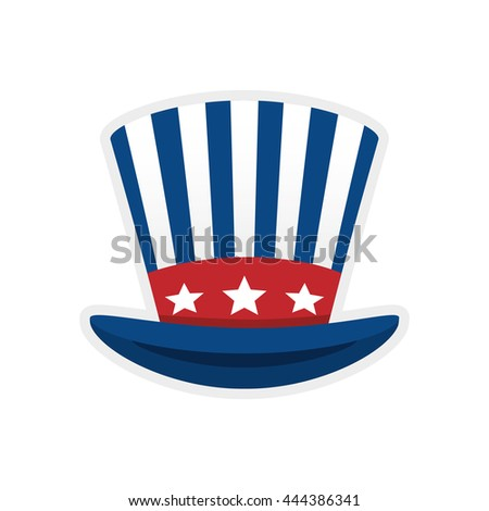 Toy concept represented by striped hat icon. isolated and flat illustration