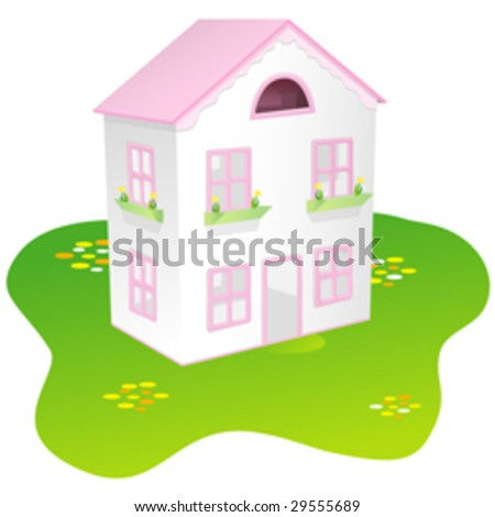Toy house - stock vector