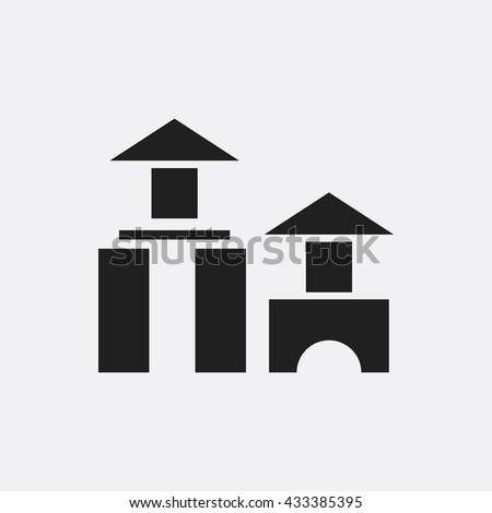 Toy house Icon, Toy house Icon Eps10, Toy house Icon Vector, Toy house Icon Eps, Toy house Icon Jpg, Toy house Icon, Toy house Icon Flat, Toy house Icon App, Toy house Icon Web, Toy house Icon Art - stock vector