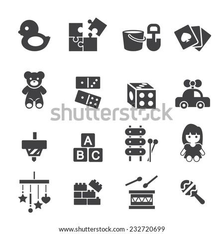 toy icon - stock vector