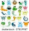 toy monster - stock vector