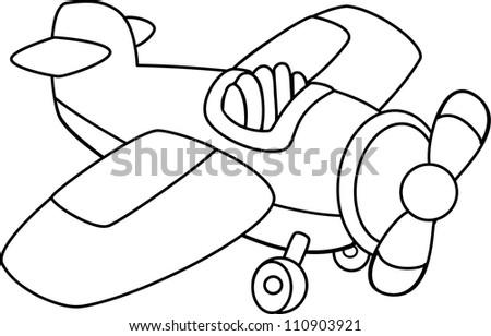 Toy plane. Vector - stock vector