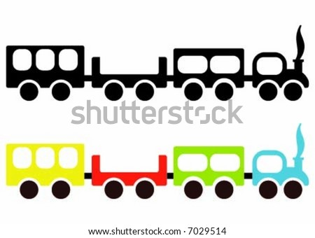 Toy train shape vector image - stock vector