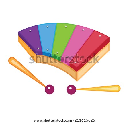 toy xylophone (vector illustration) - stock vector