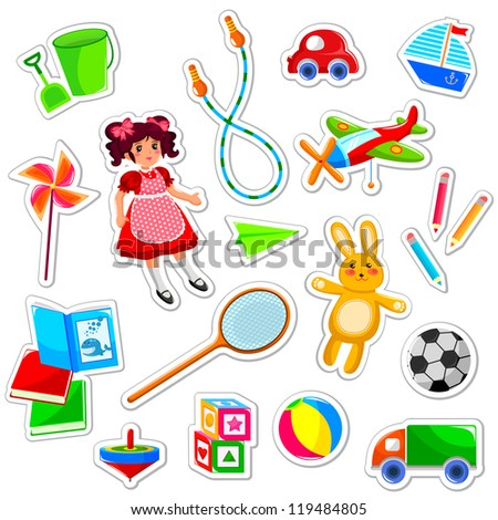 toys collection (JPEG available in my gallery) - stock vector