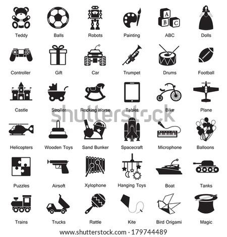 Toys icon - stock vector