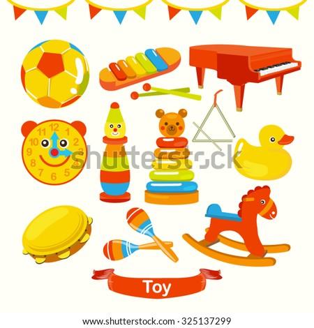 Toys Vector Design Illustration - stock vector