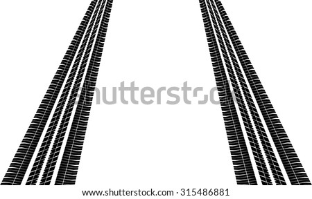 Trace Of The Tires - stock vector