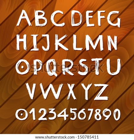 Traced illustration af a handmade english alphabet. Can be easily colored and used in your design. - stock vector
