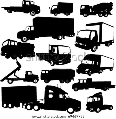 tracks collection 2 - vector - stock vector
