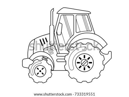 Tractor Coloring Book Stock Photo (Photo, Vector, Illustration ...