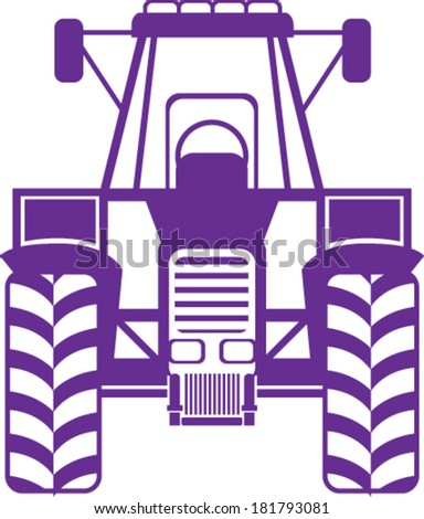 Tractor Front - stock vector