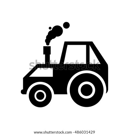 Tractor icon illustration isolated vector sign symbol