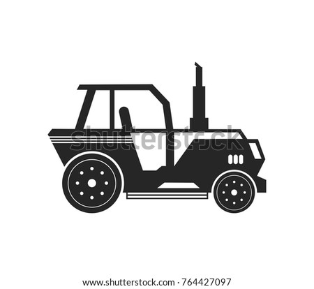 tractor silhouette vector illustration template stock vector