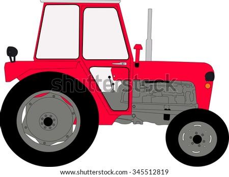 tractor vector illustration - stock vector