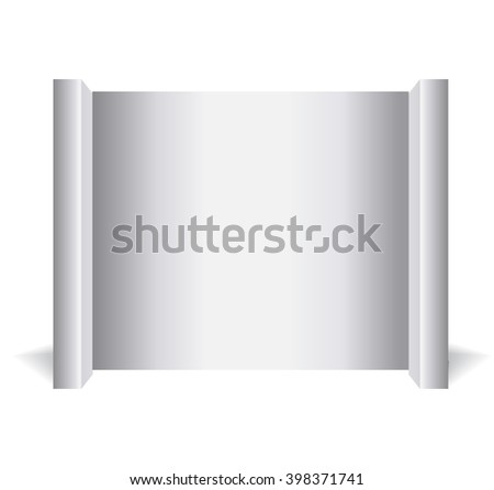 Trade display isolated on white background