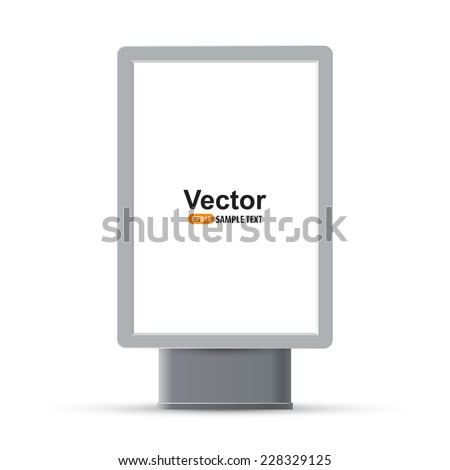 Trade exhibition stand display - stock vector