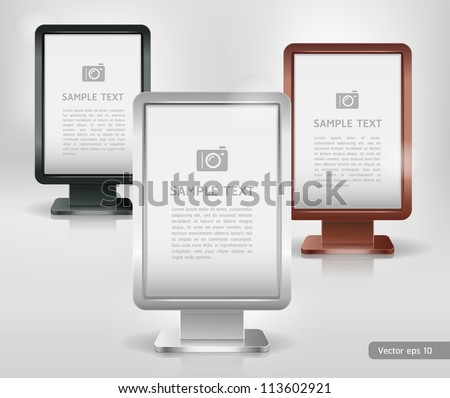 Trade exhibition stand display. Vector. - stock vector