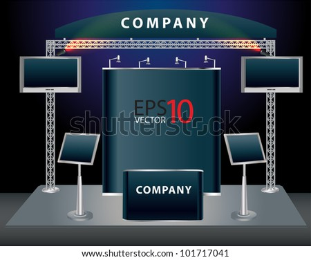 Trade exhibition stand. Vector - stock vector