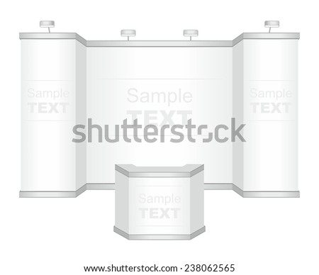 Trade exhibition stand. Vector - stock vector