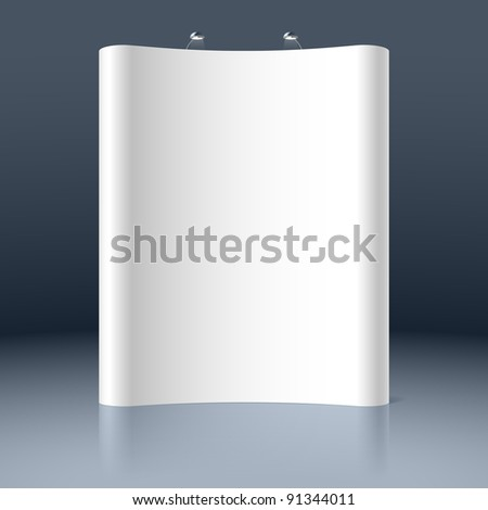 Trade exhibition stand. Vector. - stock vector