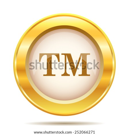 Trade mark icon. Internet button on white background. EPS10 vector.  - stock vector
