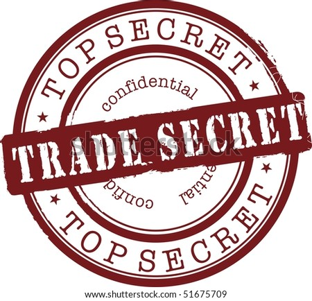 trade secret stamp with red ink. Isolated - stock vector