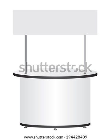 Trade stand - stock vector