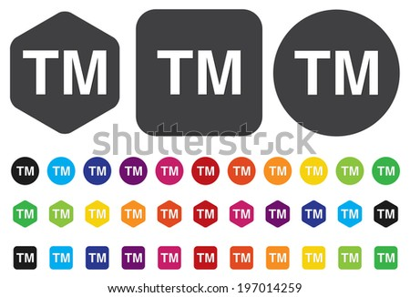 trademark button - stock vector