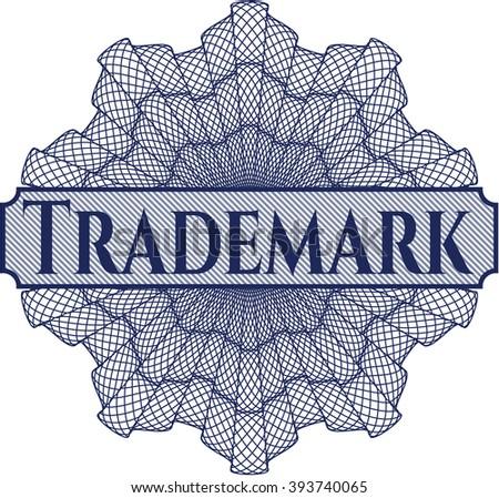 Trademark rosette (money style emplem) - stock vector
